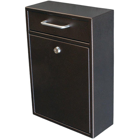 Mail Boss Locking Security Drop Mailbox Safe Bronze
