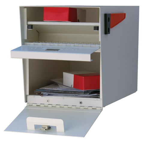 Mail Boss Locking Security Mailbox Safe White