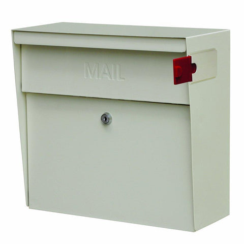 Mail Boss Metro Locking Security Mailbox Safe White