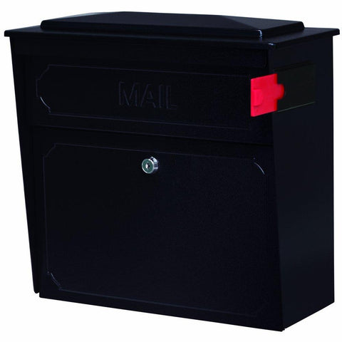 Mail Boss Townhouse Locking Security Mailbox Safe Black