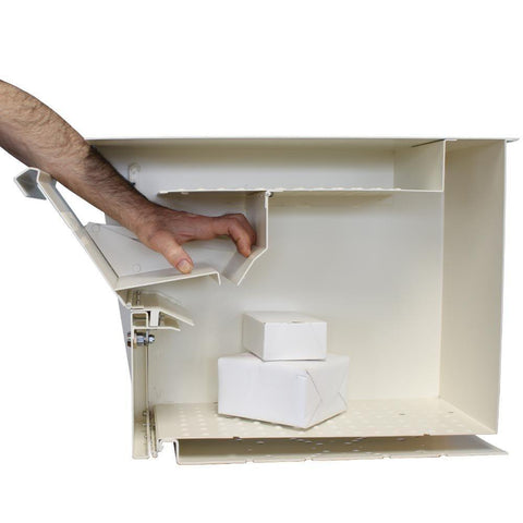 Mail Boss Package Master Locking Mailbox Safe White