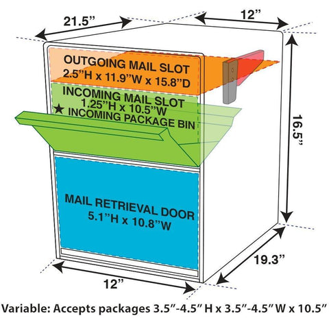 Mail Boss Package Master Locking Mailbox Safe Bronze