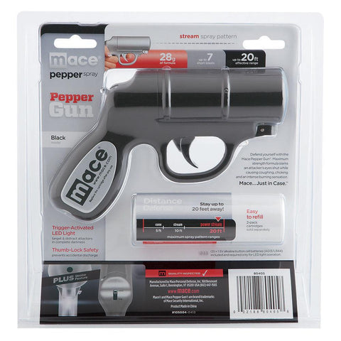 Mace® Pepper Gun Black w/ LED Strobe