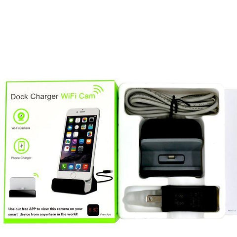 Android Micro USB Charging Dock Spy Camera 1080p HD WiFi