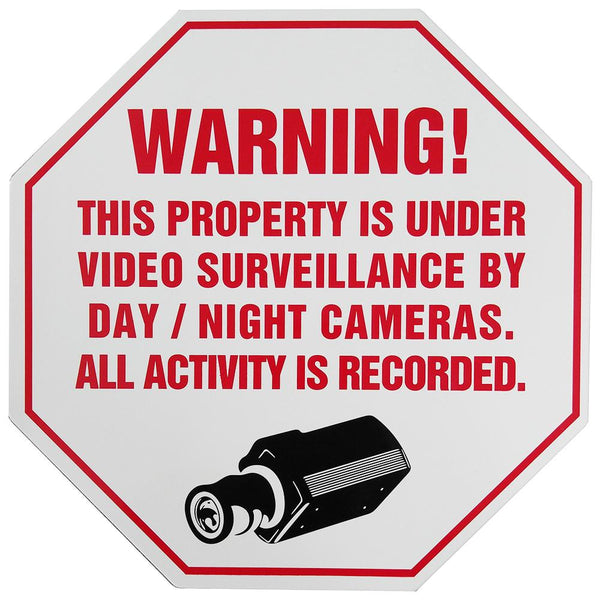 CCTV Video Surveillance Security Warning Sign