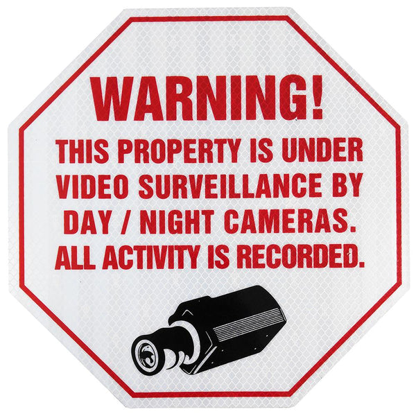 Reflective CCTV Video Surveillance Security Sign