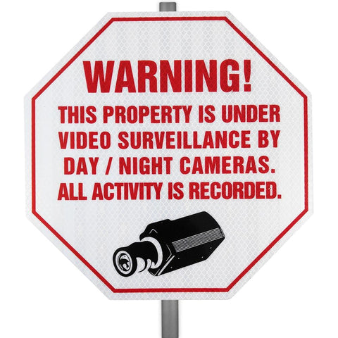 Reflective CCTV Video Surveillance Security Yard Sign