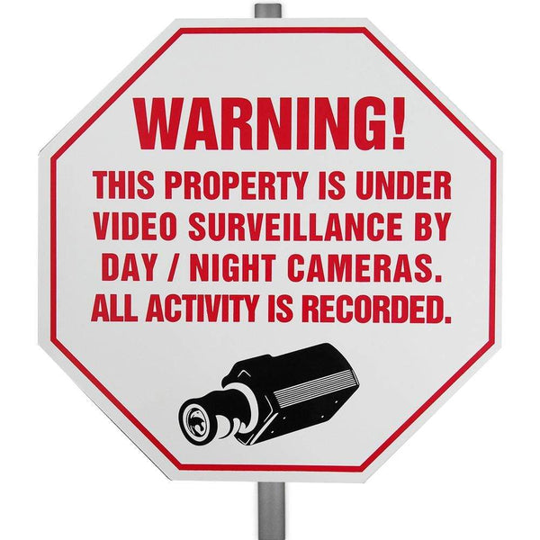 CCTV Video Surveillance Security Warning Yard Sign