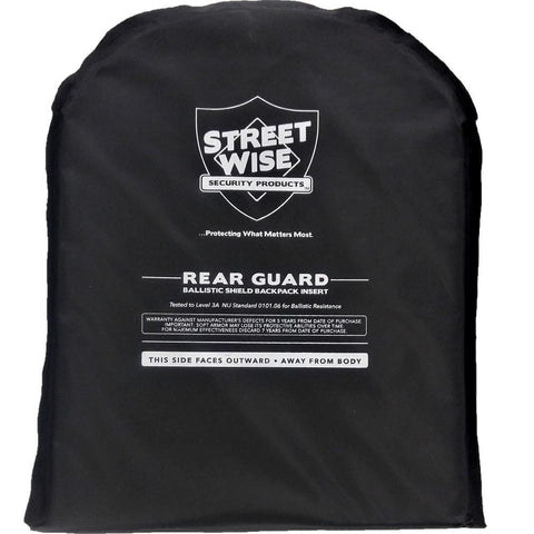 "Streetwise™ Level 3A Bulletproof Backpack Armor Insert 10"" x 13"""