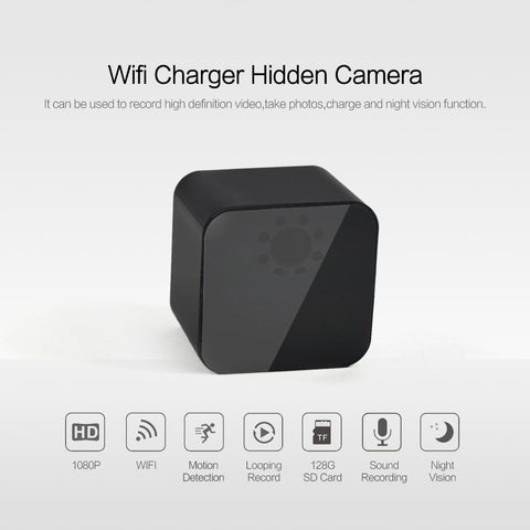 AC Adapter USB Charger Hidden Spy Camera 1080p HD WiFi