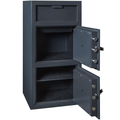 Hollon 4020CC B-Rated Dual Dial Lock Drop Depository Safe