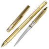 "Pen Knife with Concealed 2.13"" Steel Blade Gold"