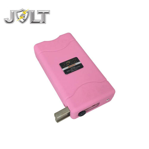 JOLT Mini Rechargeable LED Stun Gun Pink 86M
