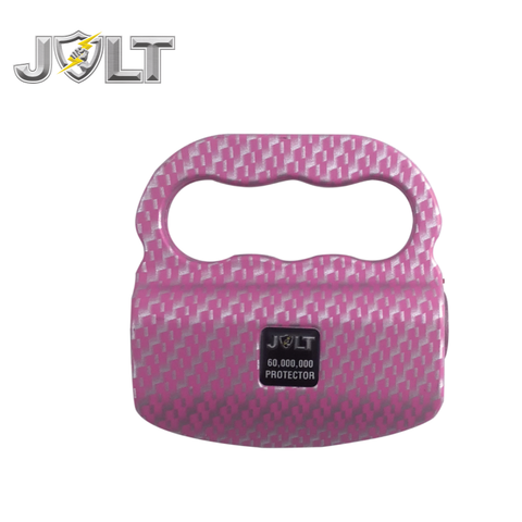 JOLT Protector Rechargeable LED Knuckle Stun Gun 60M HD Pink