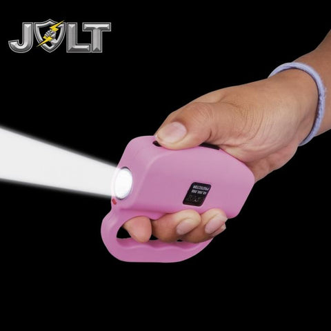 JOLT Protector Rechargeable LED Knuckle Stun Gun 60M Pink