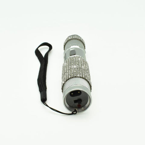 JOLT RhineStun Gun Rechargeable Flashlight Silver 75M