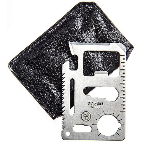 11-in-1 Stainless Steel Credit Card Survival Knife Pocket Tool