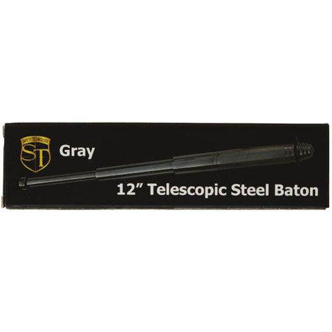 Safety Tech Expandable Steel Keychain Baton Grey 12''