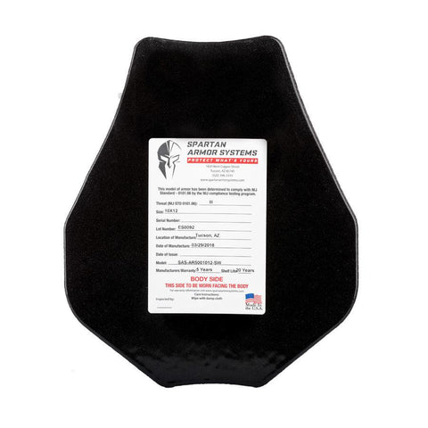 "SPARTAN™ Omega Level 3 Bulletproof Body Armor Swimmers Cut 11"" x 14"" 2-pack"