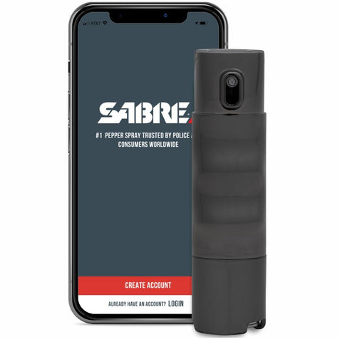 SABRE® Red SMART Keychain Pepper Spray w/ Personal Safety App