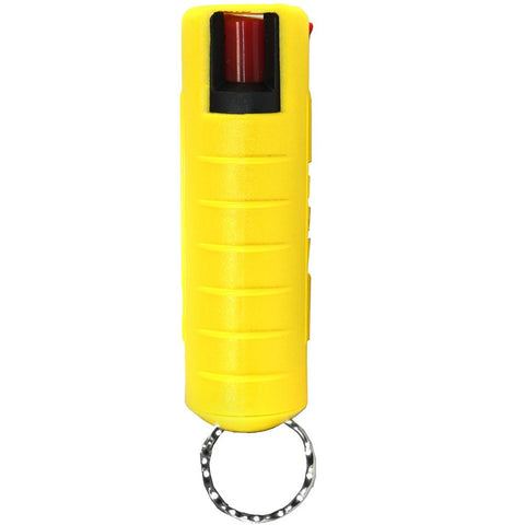 Streetwise 18 Hard Shell Keychain Pepper Spray Yellow