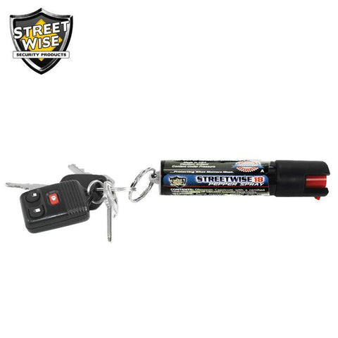 Streetwise 18 UV Dye Key Ring Pepper Spray 1/2 oz.