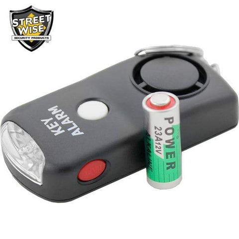 Streetwise™ 130dB Keychain Panic Alarm with LED Flashlight