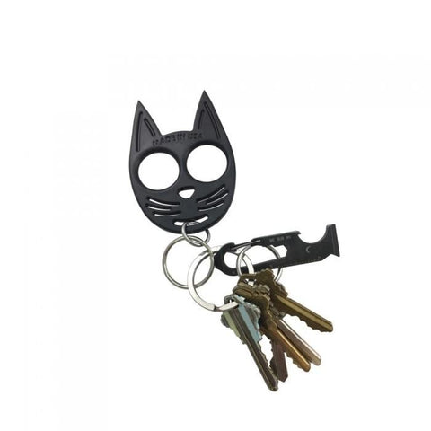 My Kitty Plastic Self-Defense Keychain Weapon Black