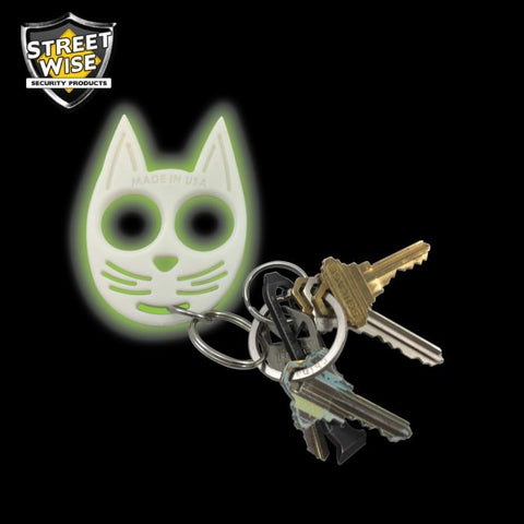 My Kitty Plastic Self-Defense Keychain Weapon Glow-in-the-Dark