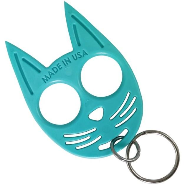 My Kitty Plastic Self Defense Keychain Weapon Teal The Home Security Superstore