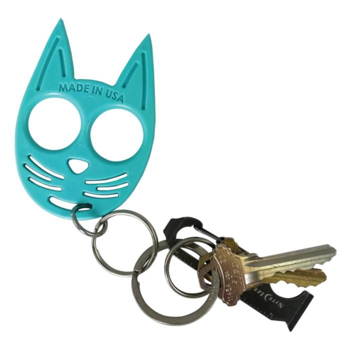 My Kitty Plastic Self Defense Keychain Weapon Teal The