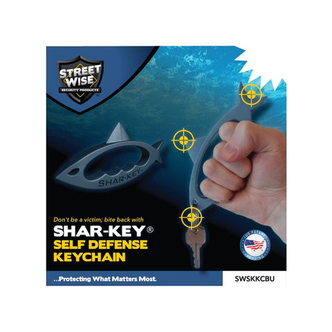 Streetwise™ SHAR-KEY Self Defense Keychain Weapon Blue