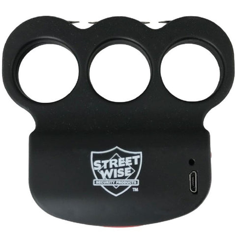 Streetwise™ Triple Sting Ring Knuckle Stun Gun Black 28M