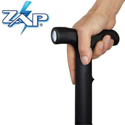 ZAP™ Rechargeable LED Stun Gun Walking Cane 1M