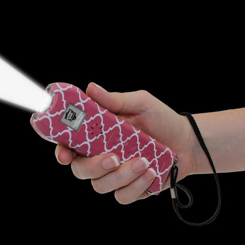 Streetwise™ Ladies' Choice Stun Gun Alarm Pink & White 21M