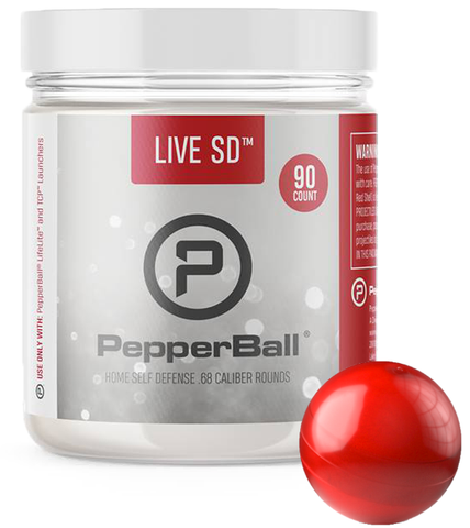 PepperBall® Live SD Standard Pepper Rounds 90-pack