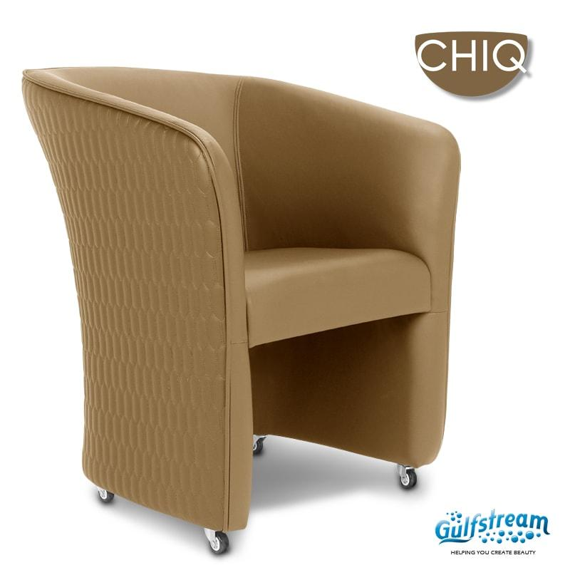 Gulfstream- Chiq Quilted Tube Chair -Salon Furniture