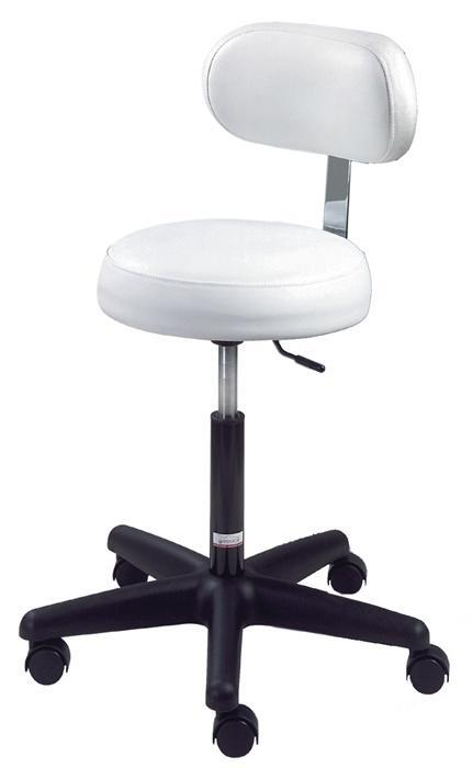Equipro - Round Esthetics Air-Lift Stool with Back Rest