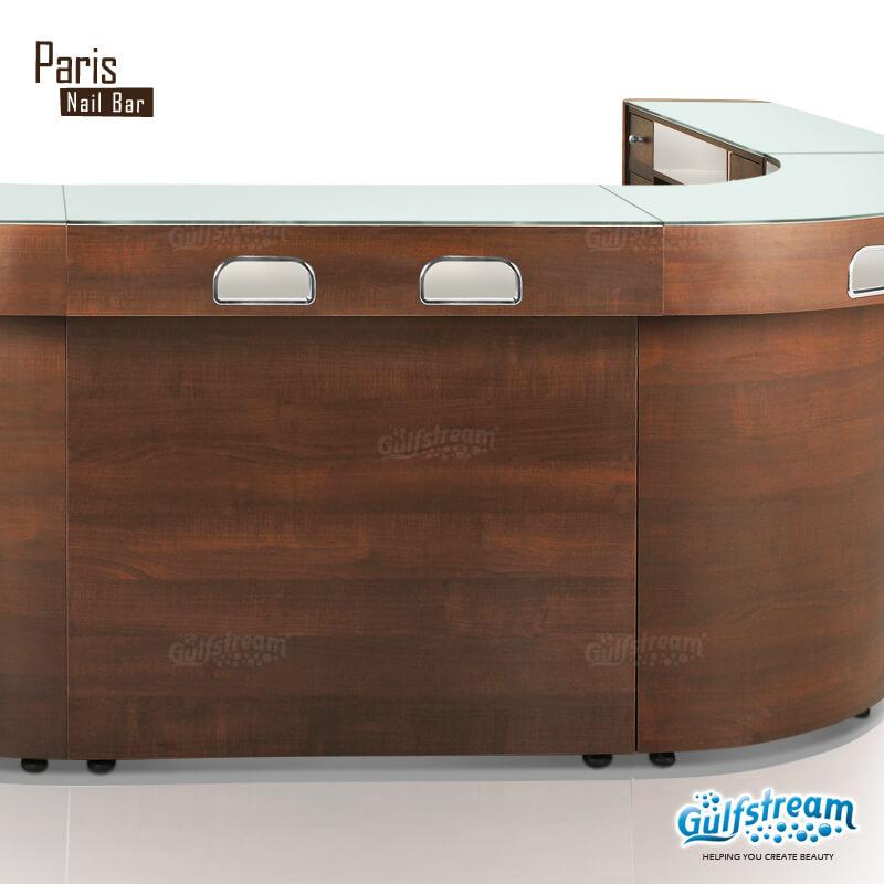 Gulfstream- Paris Nail Bar U-Shaped Combo 1 -Salon Furniture