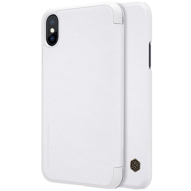White iPhone X Flip cover Case