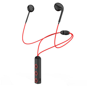 red Bluetooth Sports Earphones with Microphone Sweat-proof Workout Earbuds