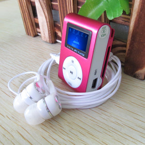 Metal LCD Screen Mp3 Music Player With High Quality Headphones + USB Cable