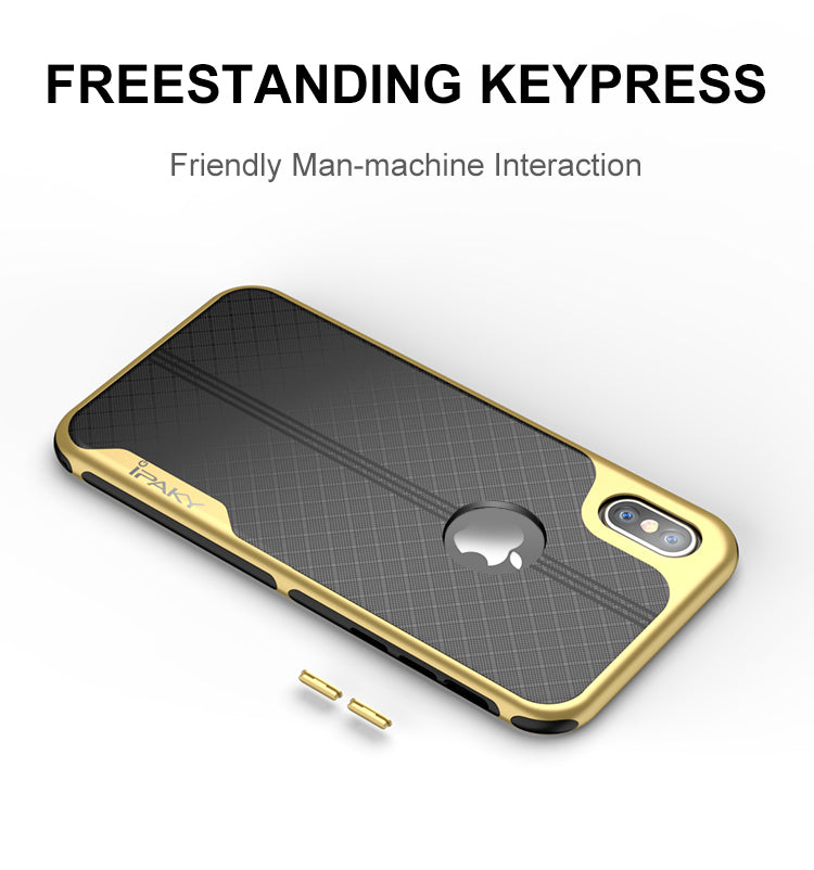 yellow IPhone X Case Armor Electroplated Shockproof