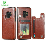 Retro Leather Case For Samsung Galaxy - Phone Cover