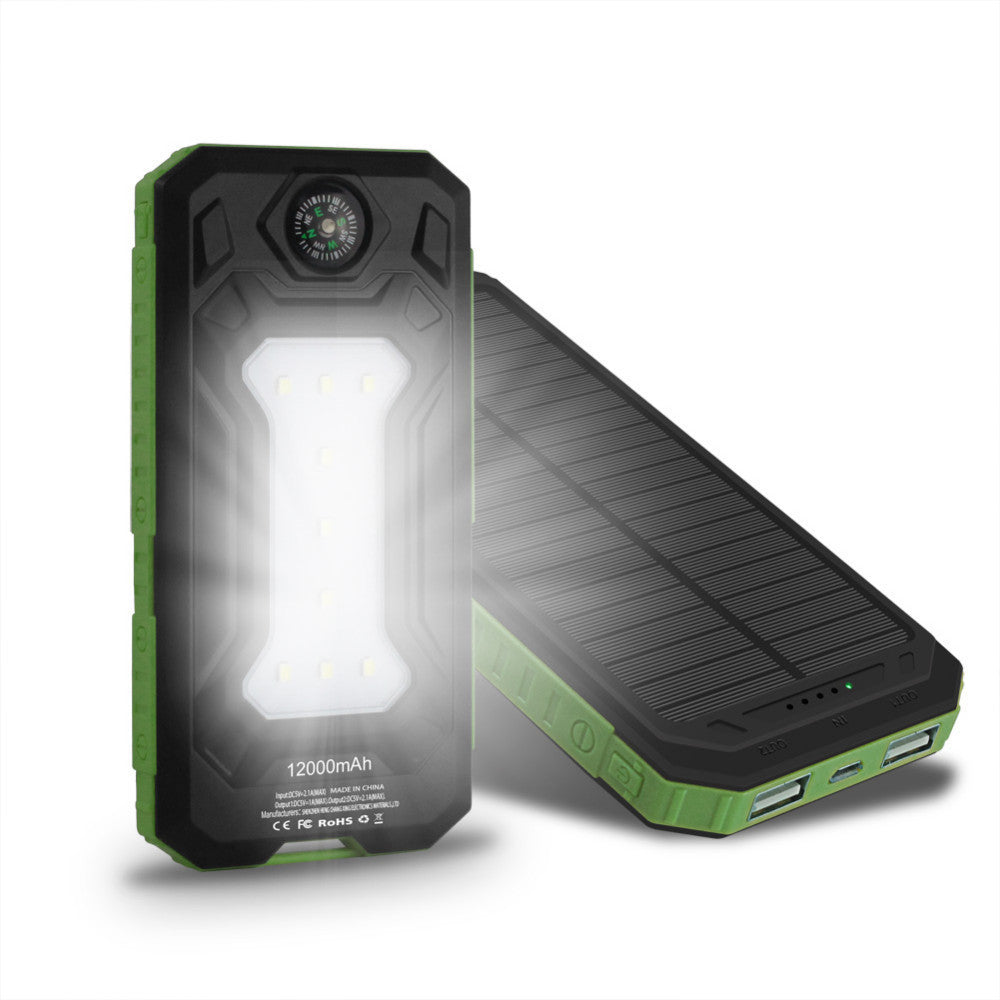 Solar Power Phone Charger Flashlight LED