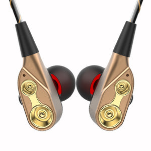 In-Ear Dynamic Headphones Heavy Bass with Mic, Volume, Control
