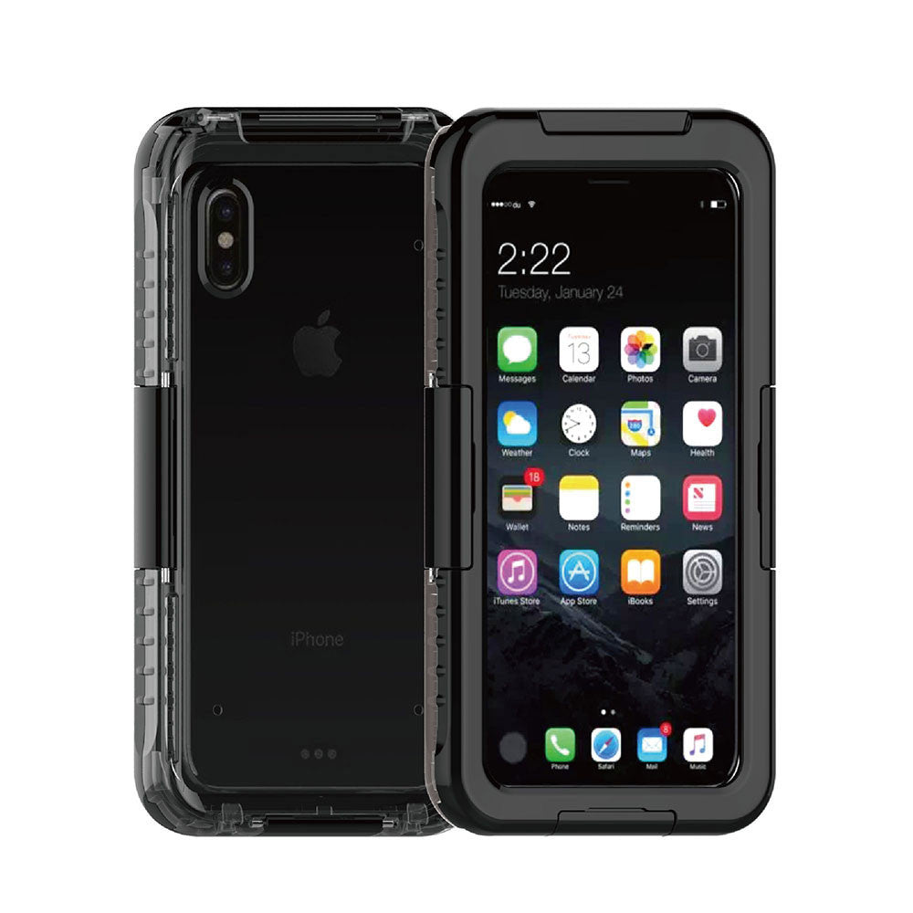 Waterproof Shockproof Case For iPhone X - XS Black