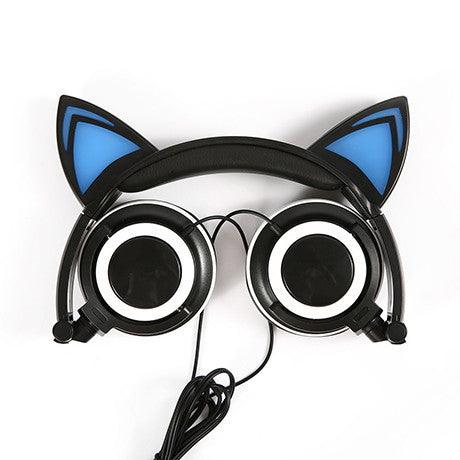 Black Cat Headphones with LED lights