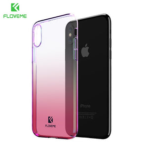 Pink  Phone Cases For iPhone X - XS MAX - XR - XS Luxury Blue Ray Ultra Hard Protective Back Cover