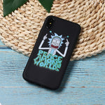 Rick And Morty Funny Cartoon Phone Case For iPhone